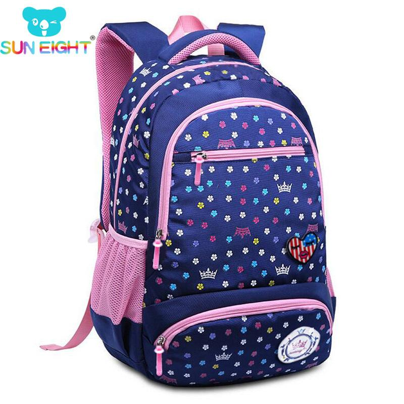 1ba9dc6d31 SUN EIGHT 2018 New Daisy Printing Girl School Bag Kid Backpack Zipper Backpacks  School Bags For Teenagers Girls Big Capacity S914 School Bags For Teens ...