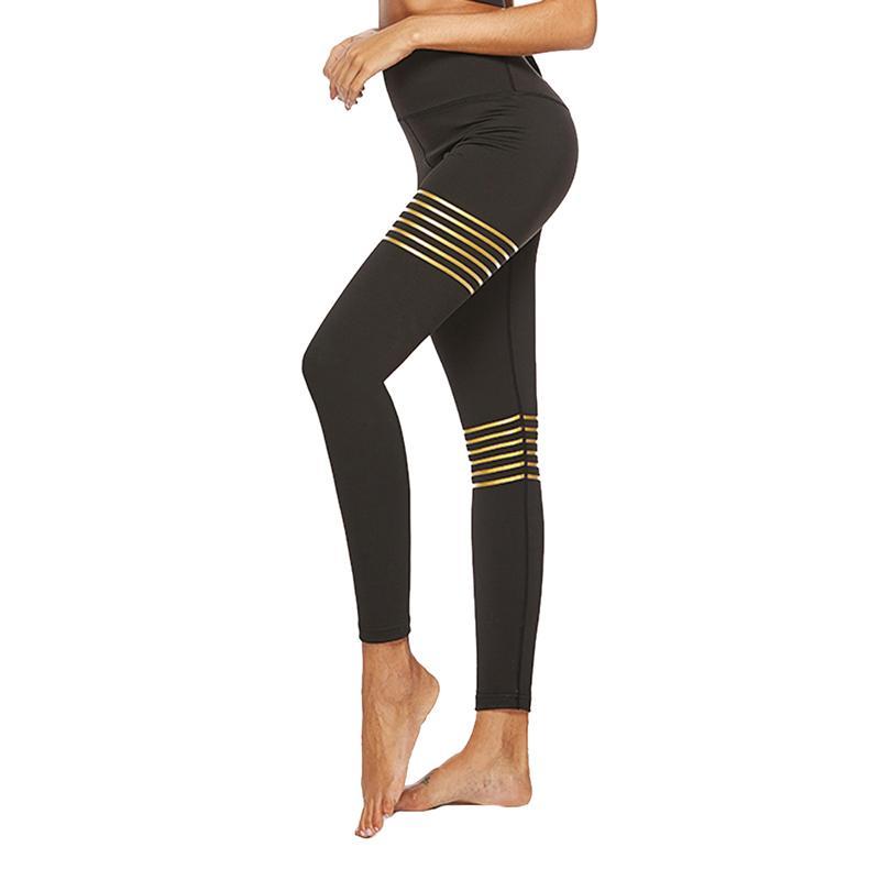 Gold Mince À Séchage Taille Femmes Pantalons Hot Rapide Vertvie Pantalon Yoga Casual De Haute Sport Fitness Marque QCWdeorBx