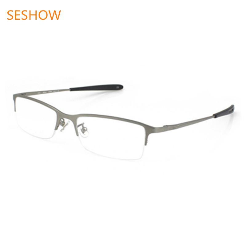 fb2b1e91bd Compre Nuevas Gafas De Titanio Para Hombre, Monturas De Montura Metálica De  Montura Media, Monturas Ópticas De Miopía De Prescripción, Para Hombre A  $36.88 ...