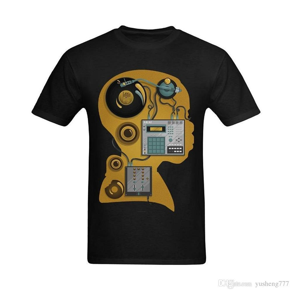 Crazy Tee Shirts Crew Neck Short-Sleeve Tall Men J Dilla Electronic Design Custom Retro T Shirt For Men