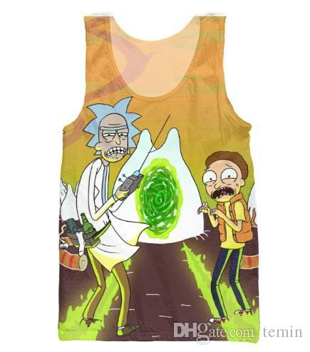 7b831d2d68c42f 2019 Wholesale Women Men Charmander Tank Top Rick And Morty Fashion Clothes  Summer Vest From Temin