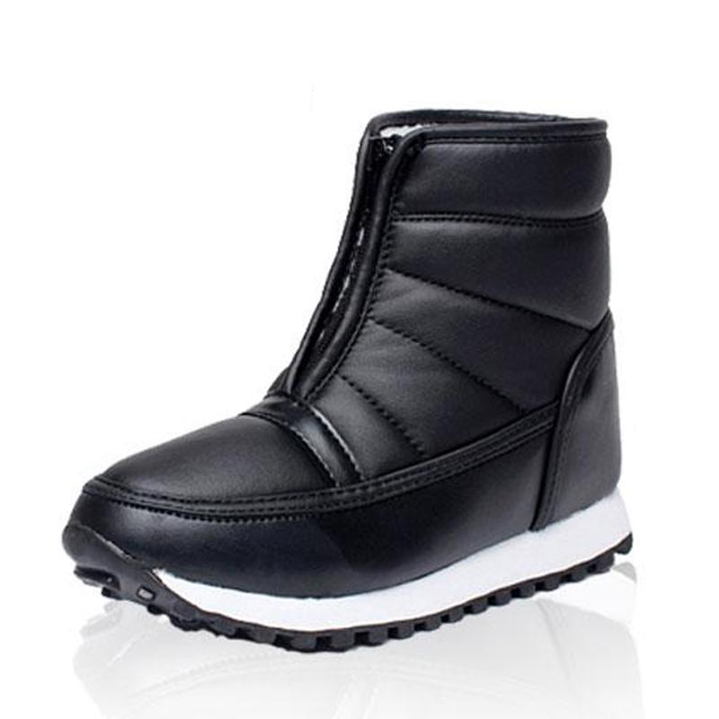b48875abc Compre 2019 LAKESHI Sapatos De Inverno Homens À Prova D 'Água Não  Deslizamento Botas De Neve Plataforma Dos Homens Ankle Boots Quentes Homens  Botas Sapatos ...