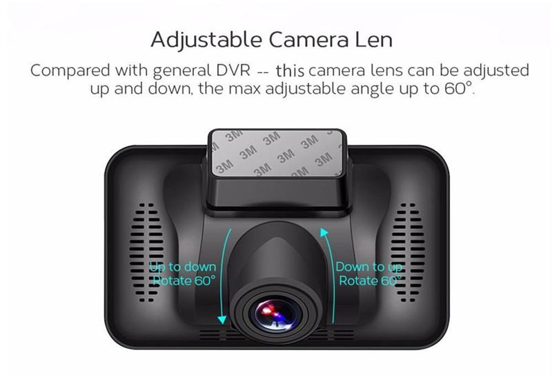 3 inches NT96223 car DVR driving video camera vehicle black box recorder full HD 1080P rotatable lens 170 degrees G-sensor motion detection
