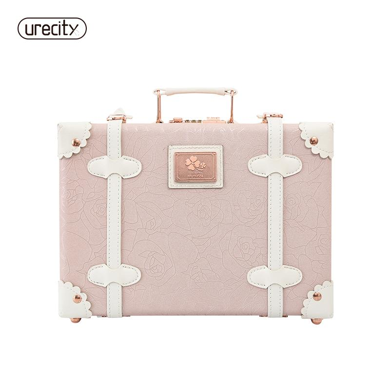2018 NEW ChildrenS Suitcase Kids Luggage Retro Pu Floral Flower Printed Small Mini Travel High Quality Weekend Bags Backpacks From Teaberry