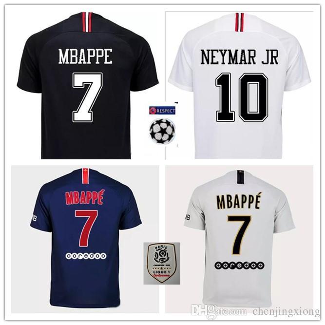 06c8284051f 2019 Top Quality18 19 PSG MBAPPE Home Away Shirt T SILVA CAVANI DI MARIA  PASTORE 2018 2019 Paris Verratti Buffon Champions League Jersey From  Chenjingxiong, ...