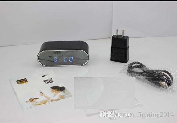 1080P P2P WIFI horloge mini caméra IP 160 Grand angle Table de nuit Vision Horloge surveillance Wirless Caméra réseau DVR Babyphone