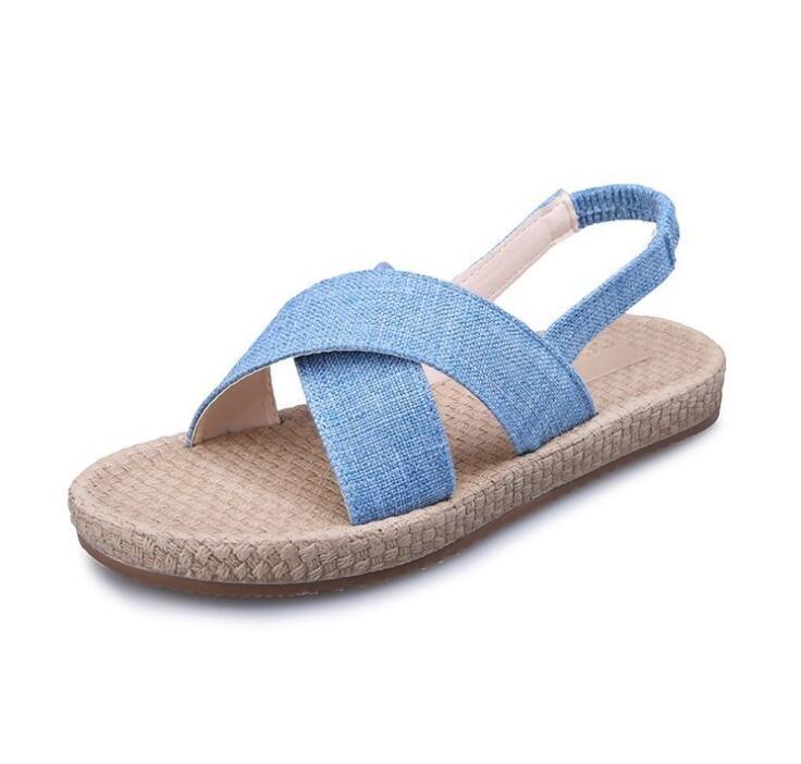 ba32f1fac14 2018 New Gladiator Women Roman Sandals Shoes Peep-toe Casual Flat ...