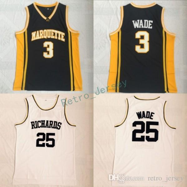 3886601b221 ... coupon code for 2019 mens marquette golden eagles 3 dwyane wade college  basketball jerseys 25 dwyane