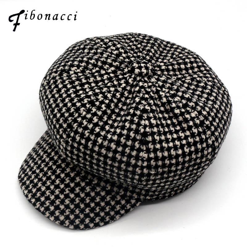 Compre Fibonacci 2018 Nueva Otoño Invierno Beret Cap Gorras Negro Blanco De  Punto Casquette Sombrero Octagonal Para Hombres Mujeres Cap A  44.66 Del  Ogstuff ... 09f235f0805