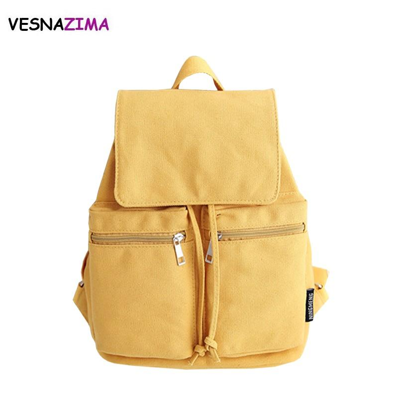 4516985d071c 2018 Canvas Women Backpack Drawstring School Bags For Teenagers Girls  Yellow Backpacks Female Rucksack Mochilas Feminina WM660Z Hydration  Backpack Womens ...