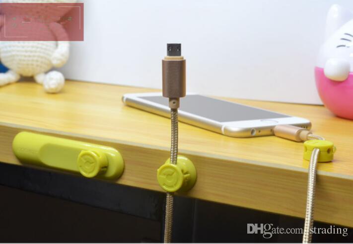 Novo 4 Cores Multifunções Fone De Ouvido Fone De Ouvido Cabo De Enrolador USB Cabo Titular Organizador Magnético Reunir Clipes Magnéticos Fio Braçadeira