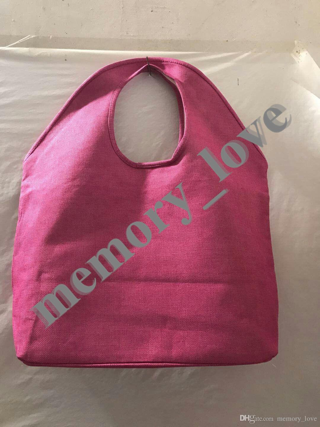 Jute tote bag Large Women big size shopping Bag Casual Beach storage Luggage Bags Open pocket IN STOCK