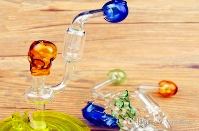 Small Skull Bone Filtering Pot Luck ,Wholesale Bongs Oil Burner Pipes Water Pipes Glass Pipe Oil Rigs Smoking