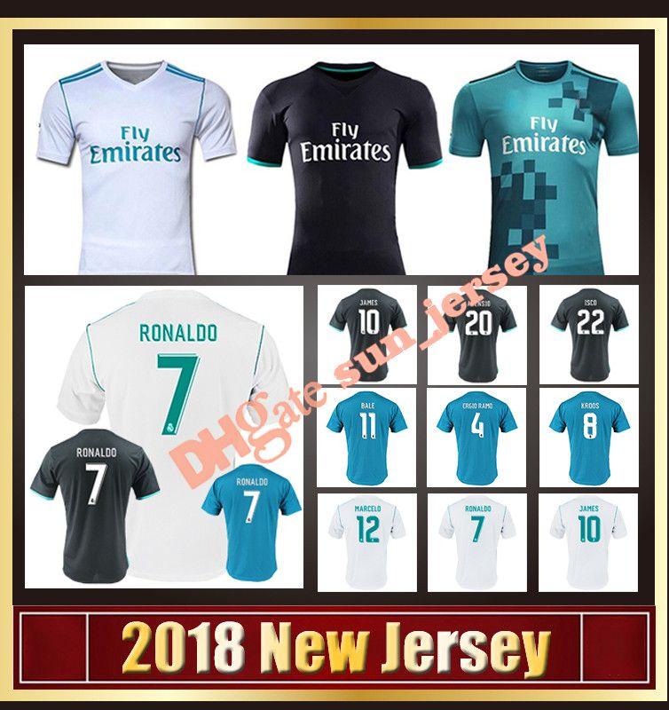 353b02f3a ... cheap 2017 2018 real madrid soccer jerseys 20 asensio 12 vieira 9  benzema 7 ronaldo 4
