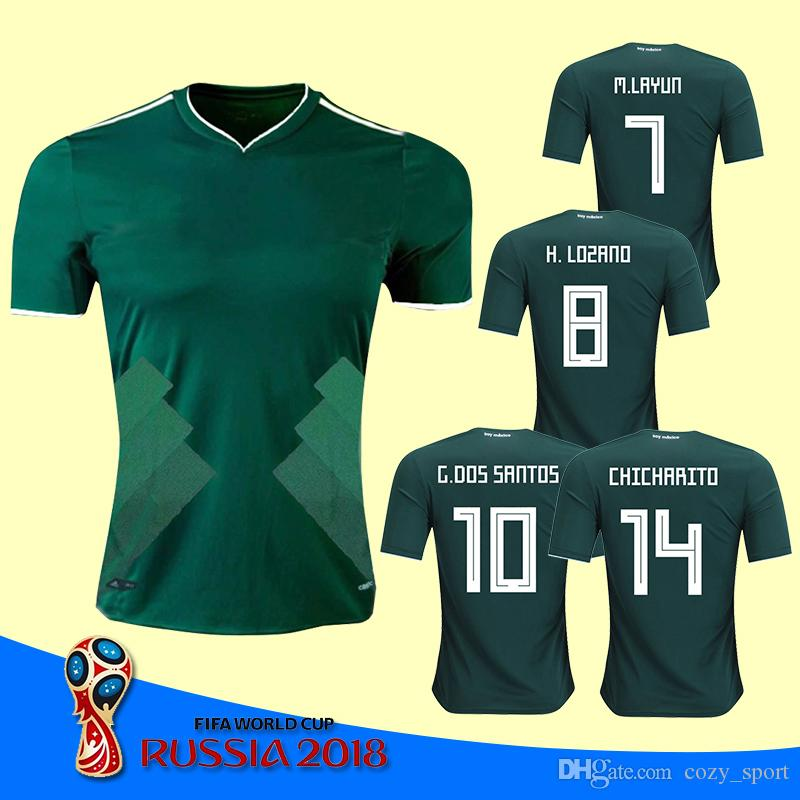 aa6c18d5d ... World Cup 2018 Mexico Jersey Home Away CHICHARITO LOZANO CHUCKY DOS  SANTOS PERALTA HERRERA National LAYUN ...