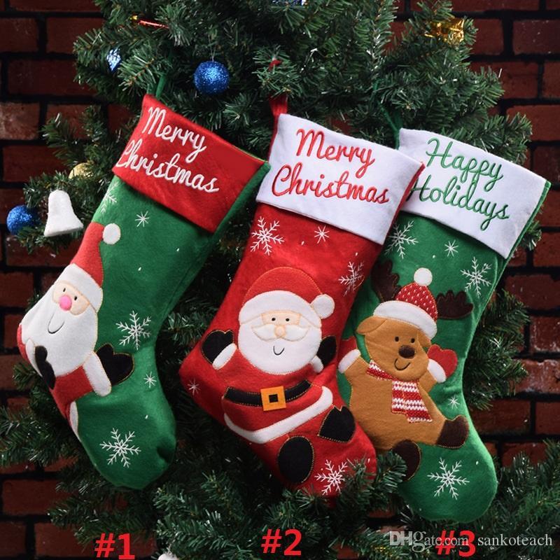 Großhandel Weihnachtsstrumpf Socken Geschenk Tasche Weihnachtsmann ...