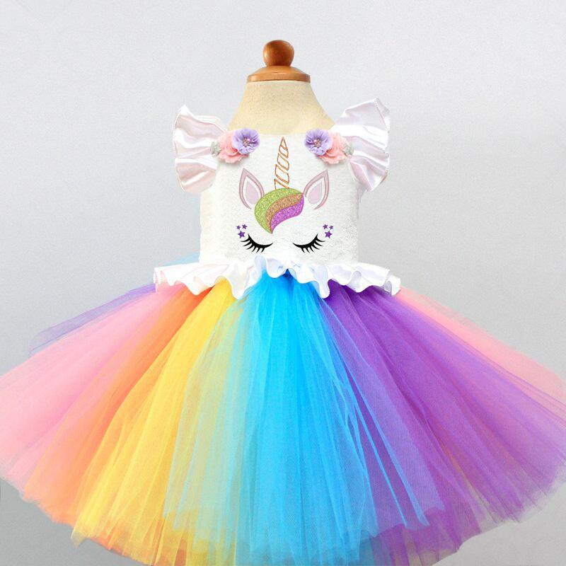 Grosshandel Phantasie Baby Madchen Einhorn Bunte Kleidung 1 Jahr