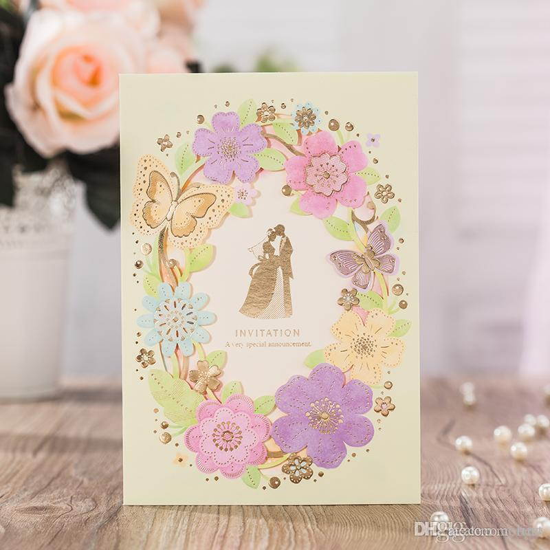 Wedding Invitations Cards Personalized Hollow Bride And Groom ...