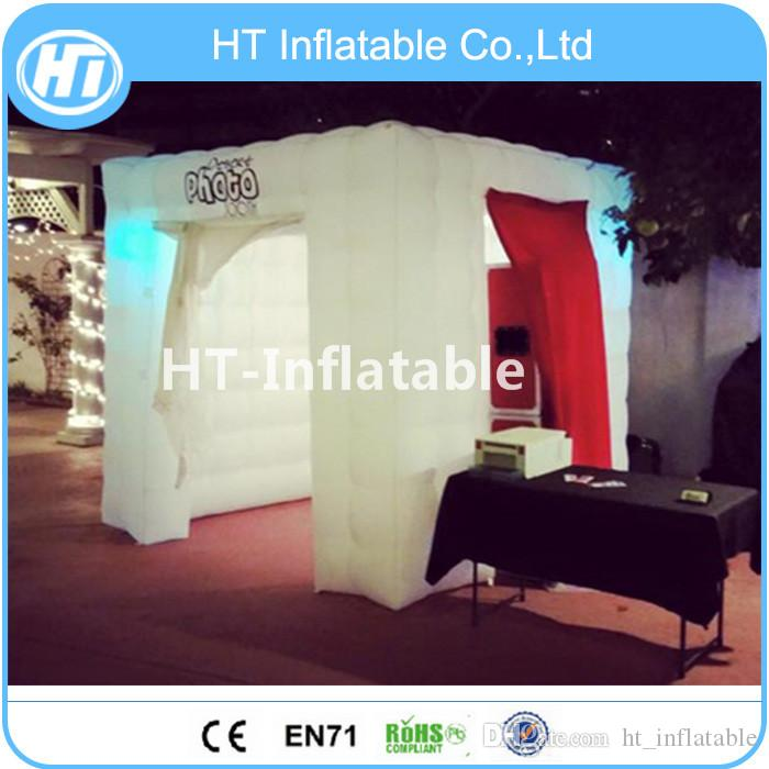 Inflatable Photo Booths LED Lights Air Photobooth/ Tent Walls Custom Portable Lighting Cube /Inflatable Photo Booth