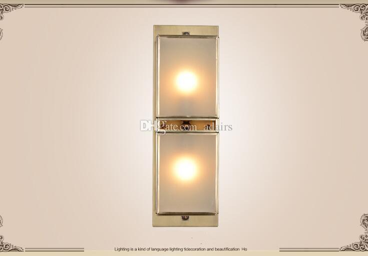 2018 nuevo estilo de pared de la sala de estar luces de pared iluminación de cobre lámpara de dormitorio moderno y simple