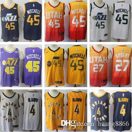 f0a726adf 2018 2019 New MEN Utah Jazz 45 Donovan Mitchell 27 Rudy Gobert 3 ...