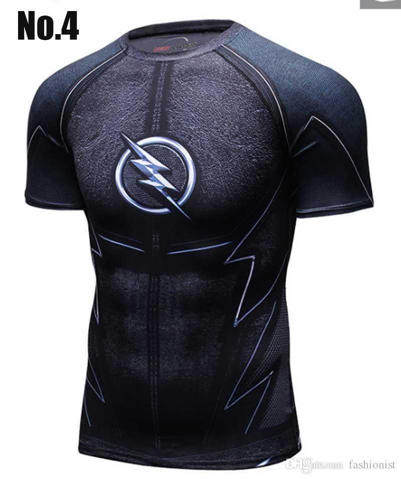 New Men sport T shirt Fashional Yoga High Quality Fitness Mens Compression short sleeve Bodybuilding Tight Tops Quick drying