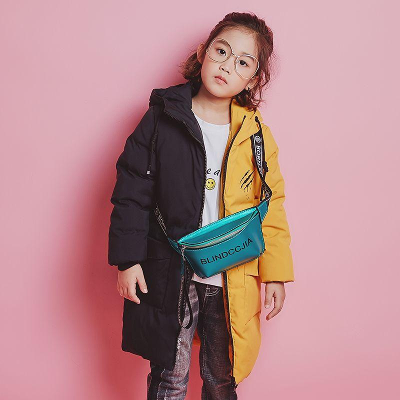 c62cfd0919e2 YH 1818 Fashion Winter Girl Splice Color Thick Coat Long Children Duck Down  Jacket Warm Hooded Teenage Kids Parka Boy Outerwear Little Girl Coats Girls  ...