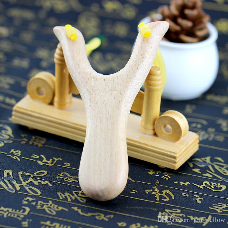 Tradition wood slingshot Solid wood Hand made Wooden Beech slingshot Safety Children toy Wooden Slingshot