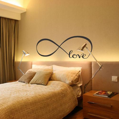 AMORE INFINITO Camera da letto da sposa Decorazione Vinile Wall Sticker Home Decal Art