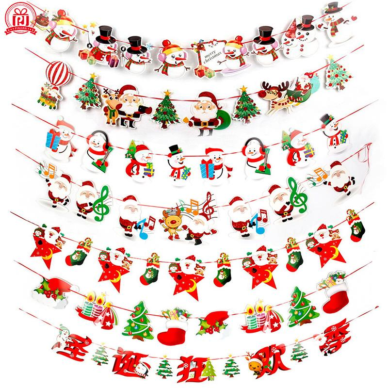 2018 banners wall hangings christmas decorations clearance ornaments pendant xmas ornaments merry christmas decorations indoor for home c1811071 from
