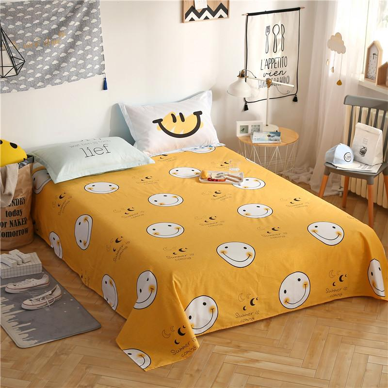 High Quality 100 Cotton Yellow Bed Sheets Flat Sheet Bed Linens