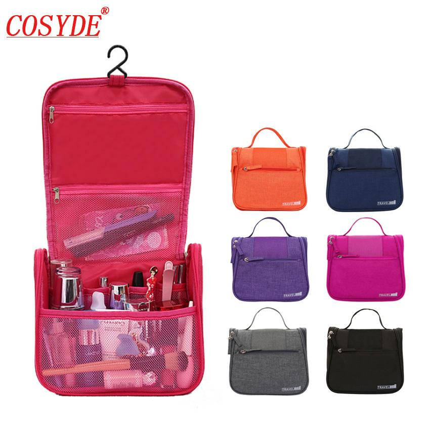 a1bc55c1fe44 2019 2018 New Waterproof Women Hanging Makeup Bag Polyester Travel  Organizer Cosmetic Bag For Women Necessaries Make Up Case WBag From  Amoybasketballshoes