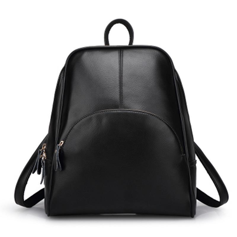 b852ad5e2d Acquista Zaino Nero Materiale Scolastico Zaino In Pelle PU Zaino Giapponese  Borsa Da Donna Zaini Adolescenti A $43.78 Dal Leegarden | DHgate.Com