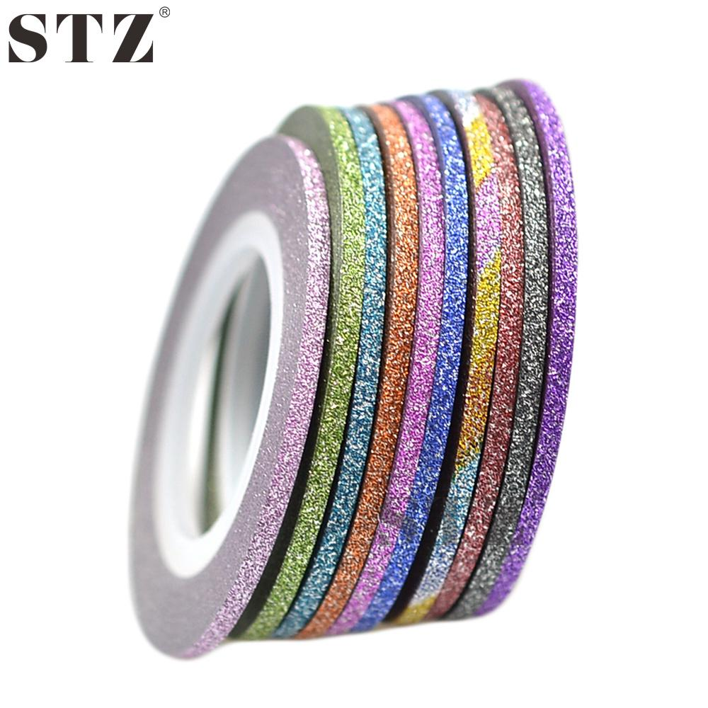Wholesale Stz 1rolls 2mm Nail Art New Laser Stripes Tape Line With ...