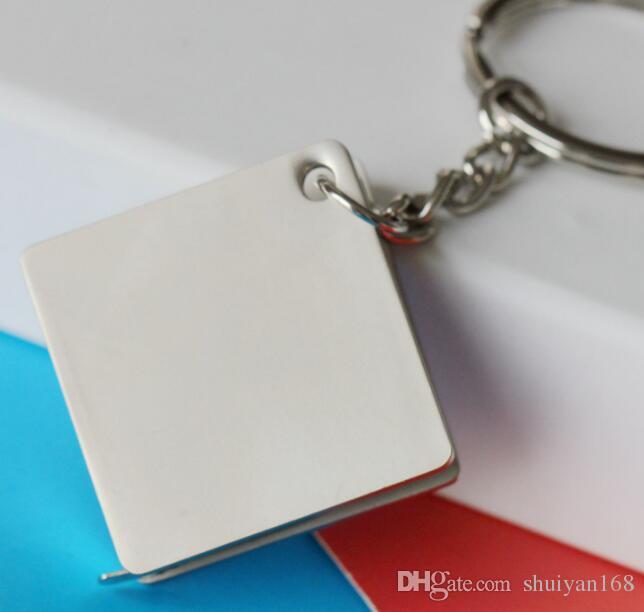 Pratico Tape Measure creativo catena portachiavi della lega del metallo Righello Portachiavi multifunzionale dell'automobile borsa portachiavi portatile Strumento