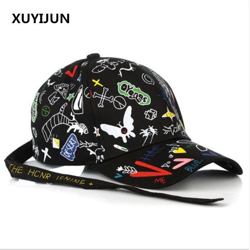 Compre Xuyijun Gorra De Béisbol De Verano Graffiti Sun Caps Hip Hop Visor  Sombrero De Primavera Ajustable Snapback Sombreros Para Mujeres A  29.85  Del ... 7e3616f52eb