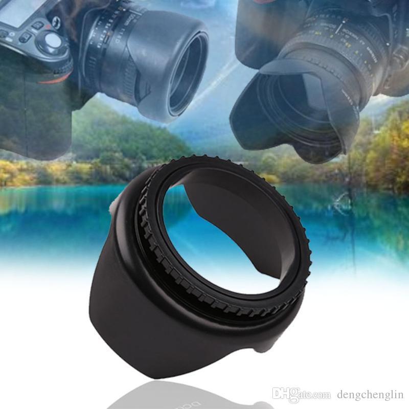 52mm / 55mm / 58mm / 62mm / 67mm Profesyonel Kamera Lens Hood Çiçek Şekli Vida Dağı Lens Hood Güneşlik Işık Kalkanı Koruyucu