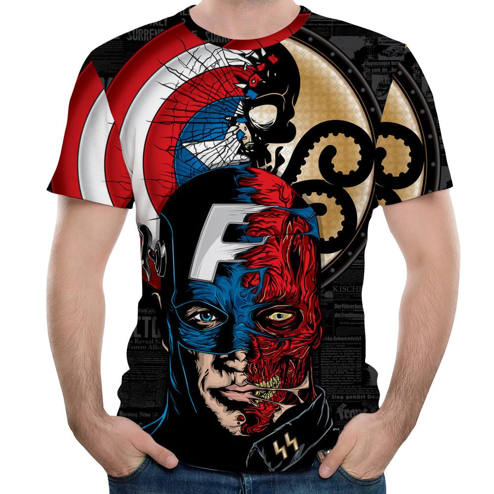 New MMA Fitness Compression Shirt Men Short-sleeved 3DT-shirt Superheroes Brand Clothing Marvel T-shir