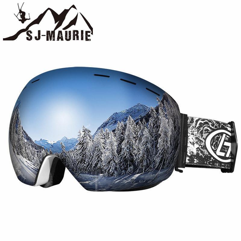 Compre Sj Maurie 12 Cores Adulto Óculos De Esqui Duas Lentes Grande Máscara  De Esqui Óculos De Proteção Uv400 Anti Nevoeiro Snow Snowboard Óculos De  Brandun ... cc8a94f3f2