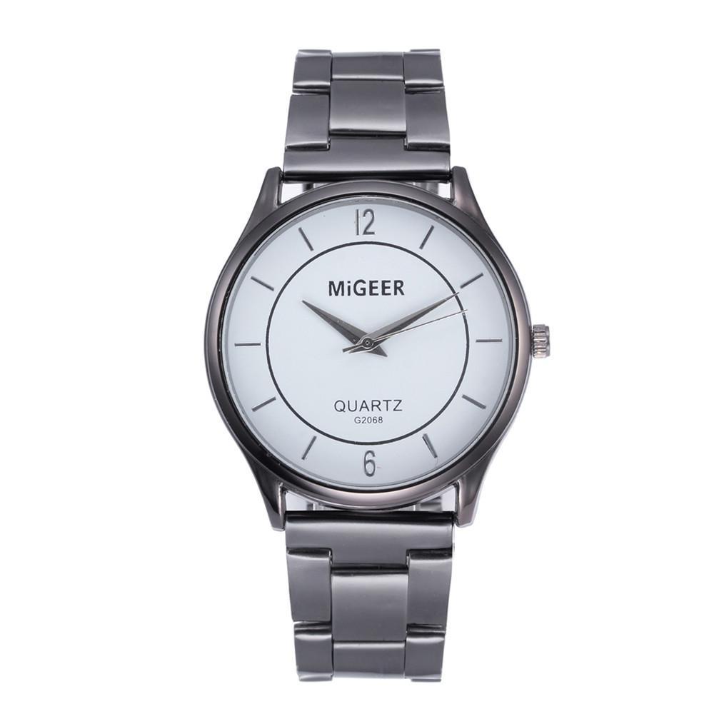 fa0b1f3ac Luxury Fashion Silver Watch Men Design Stainless Steel Quartz Watch Analog  Alloy Quartz Wrist Watches Montre Homme C8100 Low Price Watches Wristwatch  Online ...
