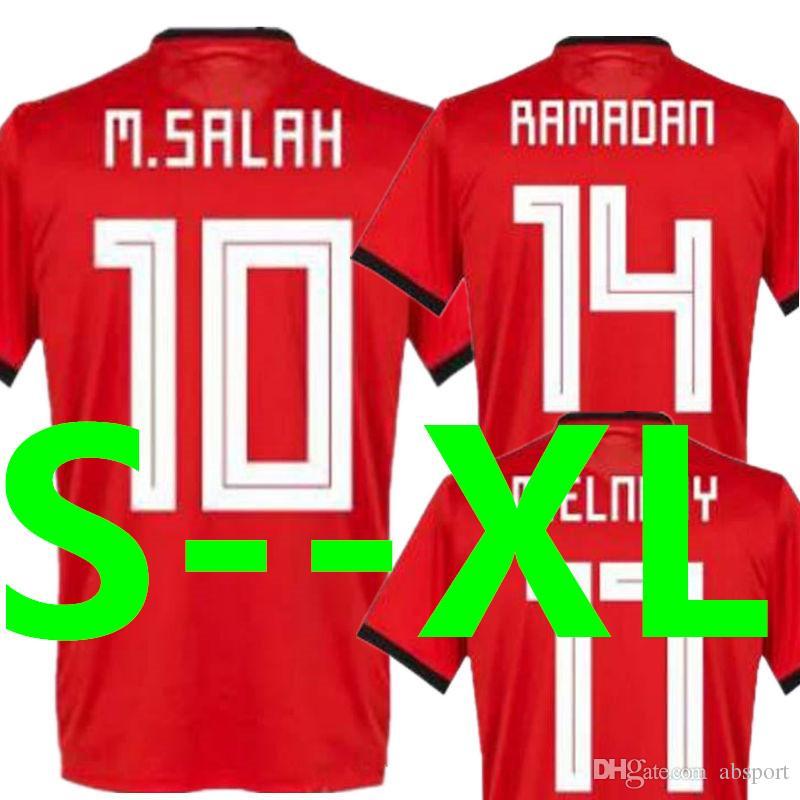 d38cff47b Soccer Jersey Egypt 2018 World Cup MOHAMAD SALAH KAHRABA Ramadan ...