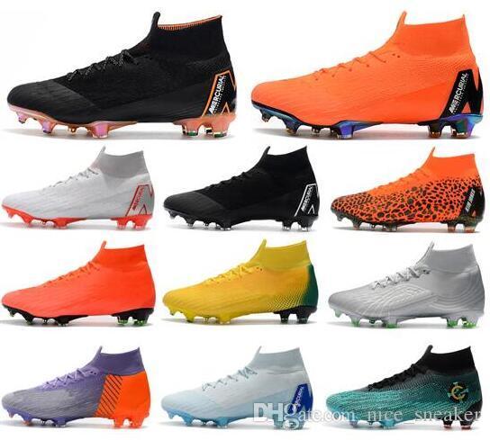 Compre Nuevo Elite Ronaldo KJ VI 360 FG Zapatos De Fútbol Para Hombres  Niños Bota De Fútbol Mercurial Superfly Cristiano Ronaldo FG Hombres Mujer  CR7 Tacos ... a335f60240f9c