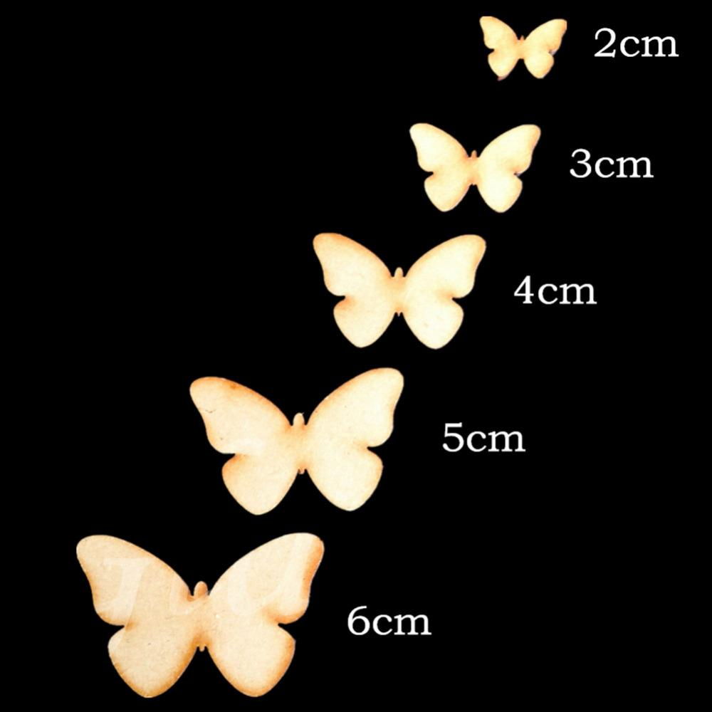 2018 decoration crafts figurines miniatures laser cut wood butterfly