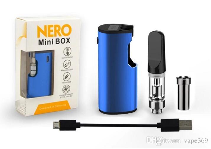 EXXUS portable cartridge vaporizer mod snap mini 510 glass tank ceramic  coil heating vaporizer e cigarette box mod variable voltage smoking