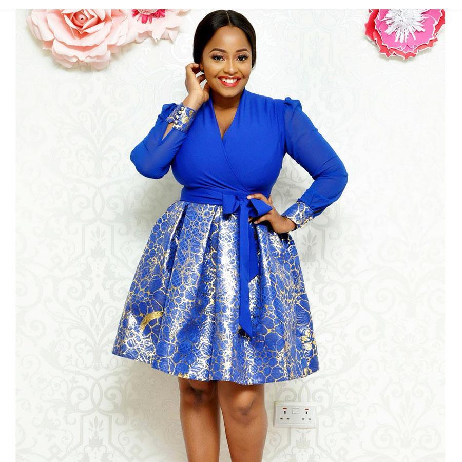 32432885cc8d Acquista L 2XL Autumn Ladies Printing Dress Donna African Casual Vintage  Cocktail Party Abiti A Maniche Lunghe Elegante Plus Size A  15.92 Dal  Dress ch ...