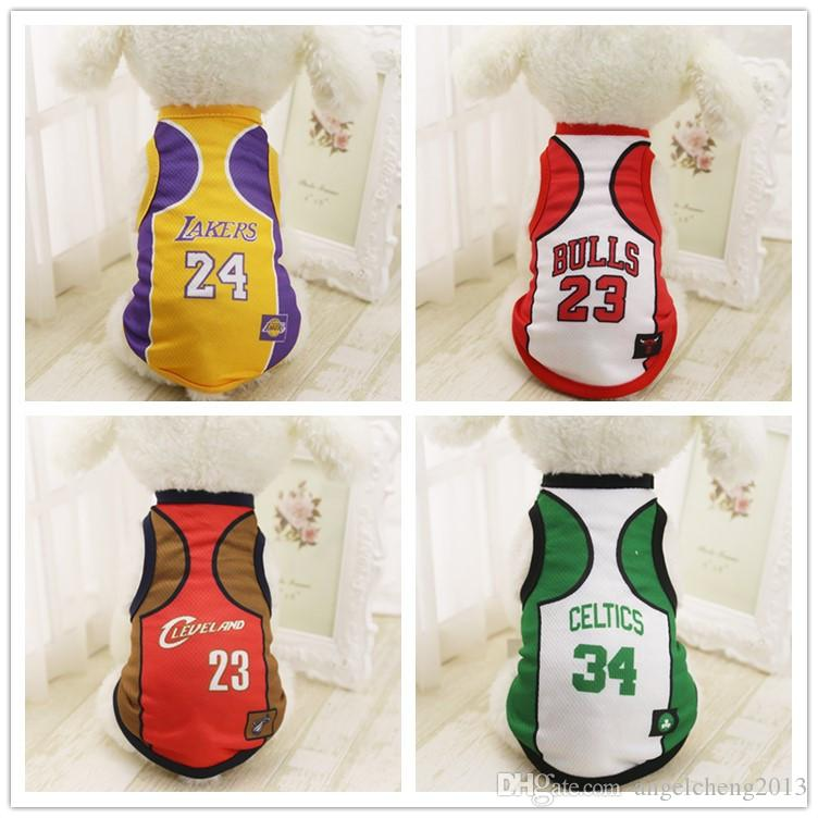 49fef33b4 2019 Pet Apparel Spring Summer Cotton Shirts Basketball Uniforms Small Dog  Cat Clothes Sleeveless Sports T Shirt Vest Puppy Costumes