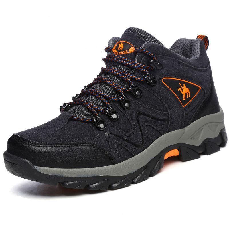 bc44a52e8eb1c Compre Botas De Hombre 2018 Otoño Invierno Botas De Nieve Hombres Zapatos Calzado  Moda Masculina De Goma Senderismo Mantener Calientes Zapatillas De Trabajo  ...