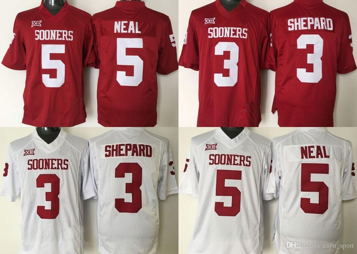 10e4da56311 Factory Outlet- NCAA Oklahoma Sooners 3 Sterling Shepard 5 Durron Neal 6 Baker  Mayfield Embroidery Logos College Football Jerseys