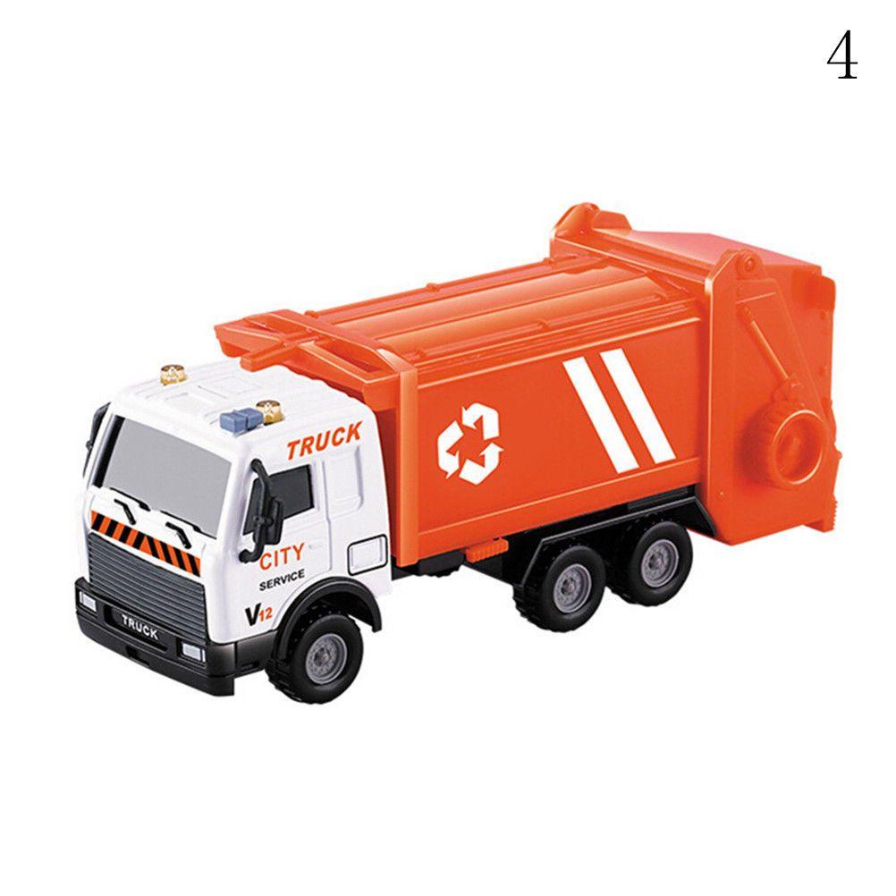 Kid portador de brinquedos puxar para trás liga de carro saneamento da série do carro petroleiro modelo de veículo de resgate toys truck diecast
