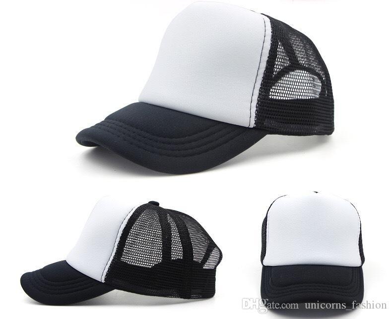 Chapeau de camionneur Adulte Chapeaux de maille Blanc Camionneur Chapeaux Snapback Chapeaux Accepter Custom Made Logo cny165